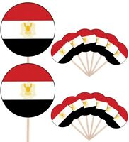Egypt Flags Party Food Cup Cakes Picks Sticks Decorations Toppers