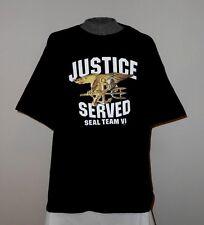 """NEW """"JUSTICE SERVED"""" SEAL TEAM VI  T-SHIRT 2XL - XXL  *L@@K*  SEAL TEAM 6  NWOT"""