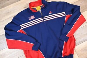 Vintage 1999 Team USA Adidas Womens World Cup Track Jacket large zip up