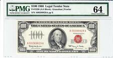 1966 $100 Fr-1550 United States Note 'RADAR SERIAL' PMG 64 CHOICE UNCIRCULATED!