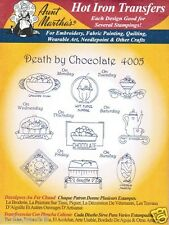 Death by Chocolate #4005 Aunt Martha's Hot Iron Embroidery Transfer Pattern