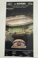 UNUSED NY JETS TICKET COLLECTIBLE FIRST GAME AT NEW METLIFE STADIUM VS RAVENS