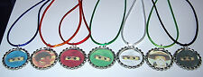 7 LEGO NINJAGO NECKLACE WITH MATCHING COLOR CORDS BIRTHDAY PARTY FAVORS