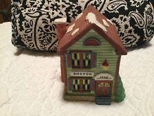 Vintage 1991 Doctor Christmas Holiday Village Ceramic