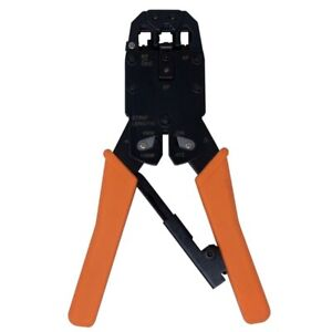 RJ11 RJ12 & RJ45 Ratchet Copper Crimping Tool & Jacket Stripper 4P, 6P & 8P
