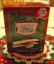 Wright Brothers Plane Aviation Carlton Card Ornament Century Flight Kitty Hawk
