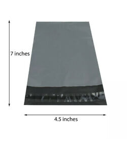 """100 x  STRONG QUALITY GREY MAILING POLY POSTAGE BAG POSTAL PACKAGING 7"""" X 4.5"""""""
