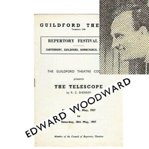 1957 Edward Woodward The Telescope Guildford Theatre Repertory Co Melvyn Hayes