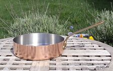 """Copper 8"""" Saute Pan w/ Stainless Steel interior, 1.6 mm, Made in France"""