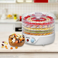 5Tray Food Dehydrator Electric Thermostat Preserver Fruit Beef Jerky Dryer Maker