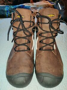 "NEW KEEN PORTLAND 6""  STEEL TOE WATERPROOF BOOTS IN BROWN USM 14, UK 13, EU 47.5"