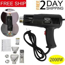 2000W Heat Gun Hot Air Wind Blower Kit Dual Temperature + 4 Nozzles Power Heater