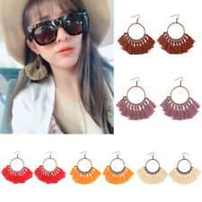 Hot Fashion Women Bohemian Fringe Boho Tassel Hook Drop Dangle Earrings Jewelry