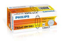 T10.5x43 Philips Car Bulbs 12866CP (Lucas cross Ref LLB264) Box of 10
