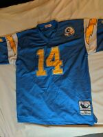 DAN FOUTS SAN DIEGO CHARGERS MITCHELL   NESS FOOTBALL JERSEY SZ 52 Silver  Anniv 22ee4596fa55