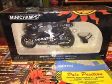 1:12 MINICHAMPS DUCATI MOTOGP 2012 TEST SEPANG V. ROSSI NEW SHIP. WORLDWIDE RARE