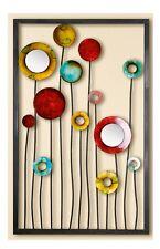GILDE Decoración De Pared Relieve wandblume multicolor con espejo y acrílico,