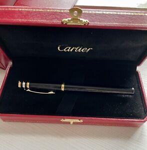 Cartier Trinity Rollerball Pen Black Super Excellent Full Set
