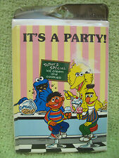 SESAME STREET BIRTHDAY INVITATIONS Vintage 1980s CARD Party COOKIE MONSTER Ernie