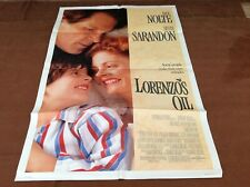 1992 Lorenzo's Oil Original Movie House Full Sheet Poster