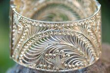 Armband Sterling leicht vergoldet Silber 900 iligran breit reich verziert antik