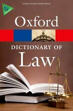 A Dictionary of Law (Oxford Quick Reference),Elizabeth A Martin, Jonathan Law