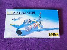 Vintage Heller 1:72 N.A F-86F Sabre Jet Airplane Model #80277 Made in France