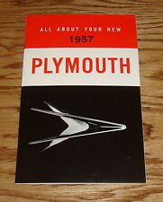 1957 Plymouth Owners Operators Manual 57