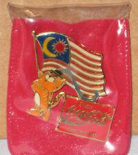 1988 SEOUL OLYMPIC MASCOT HODORI MALAYSIA PARTICIPATION COCA COLA RARE ERROR PIN