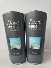 Lot of 2 Dove Men Care Clean Comfort Mild Formula Body & Face Wash 18oz Each