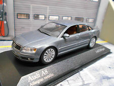 AUDI a8 berline quattro Grey Met type d3/4e 2002 – 2010 rar Minichamps 1:43