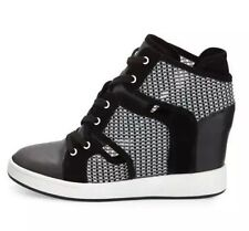 L.A.M.B 8168 Gera Hidden Wedge Lace Up Sneakers Black/White sz 9