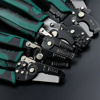 Professional Wire Cable Stripper Cutter Stripping Pliers Electrician Hand Tool