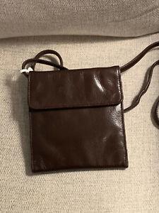 Perlina New York Leather Crossbody / Folding Wallet  ID 136