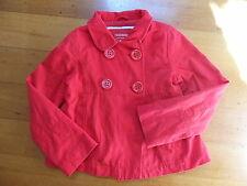 UNITED COLORS OF BENETTON girls' red swing jacket size 6 NWOT