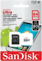 SanDisk Ultra 16GB 32GB 64GB Micro SD Class10 SDHC SDXC Flash Memory Card TF