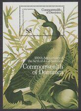 DOMINICA - 1986 Birth Bicentenary of John J. Audubon (2nd issue) MS - UM / MNH