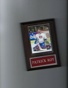 PATRICK ROY PLAQUE MONTREAL CANADIENS HOCKEY NHL