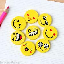 Me encanta sonrisa gomas de borrar Set Lindo Dibujos animados caras Kawaii Papelería Pencil Accesorio