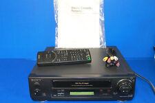Sony SLV-420 DA Pro 4-Head VCR and VHS Recorder/Player W/ Remote and Manual