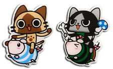 Monster Hunter Hunter Airou Riding Poogie Pin Set Anime Manga NEW