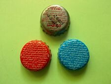 Coca Cola Metal Bottle Caps From The United Arab Emirates 3 Pieces.