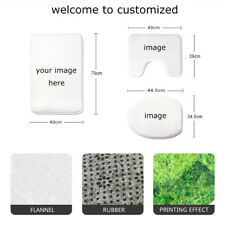 Personalised Bathroom Mat Toilet Seat Lid Cover Contour Rug Home Decor Shower