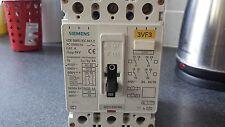 SIEMENS 3vf3 100A 3 Pole mccb INTERRUTTORE AUTOMATICO come Crabtree pw160 100AMP