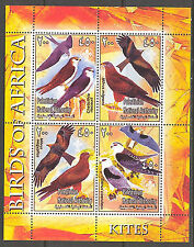 Palestinian National Authority Birds of Africa XII Kites Sheet of 4 MNH**