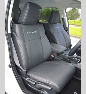 Honda CRV 4th Gen Black Edition Tailored Leather Look Genuine Fit Seat Covers