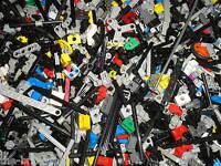 Vrac de 50 petites pièces LEGO TECHNIC / pin - pièces de connexion - tiges ..etc