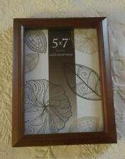 "Prinz Picture Frame Pine Wood W/Walnut Finish Solid Holds 5"" x 7"" Photo Nwot"