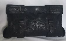 XLarge COUNTRY ROAD Black Leather Clutch Bag / Handbag