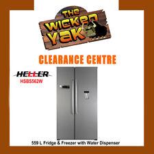Heller 559L Stainless Steel Side by Side Fridge Freezer+Water Dispenser HSBS562W